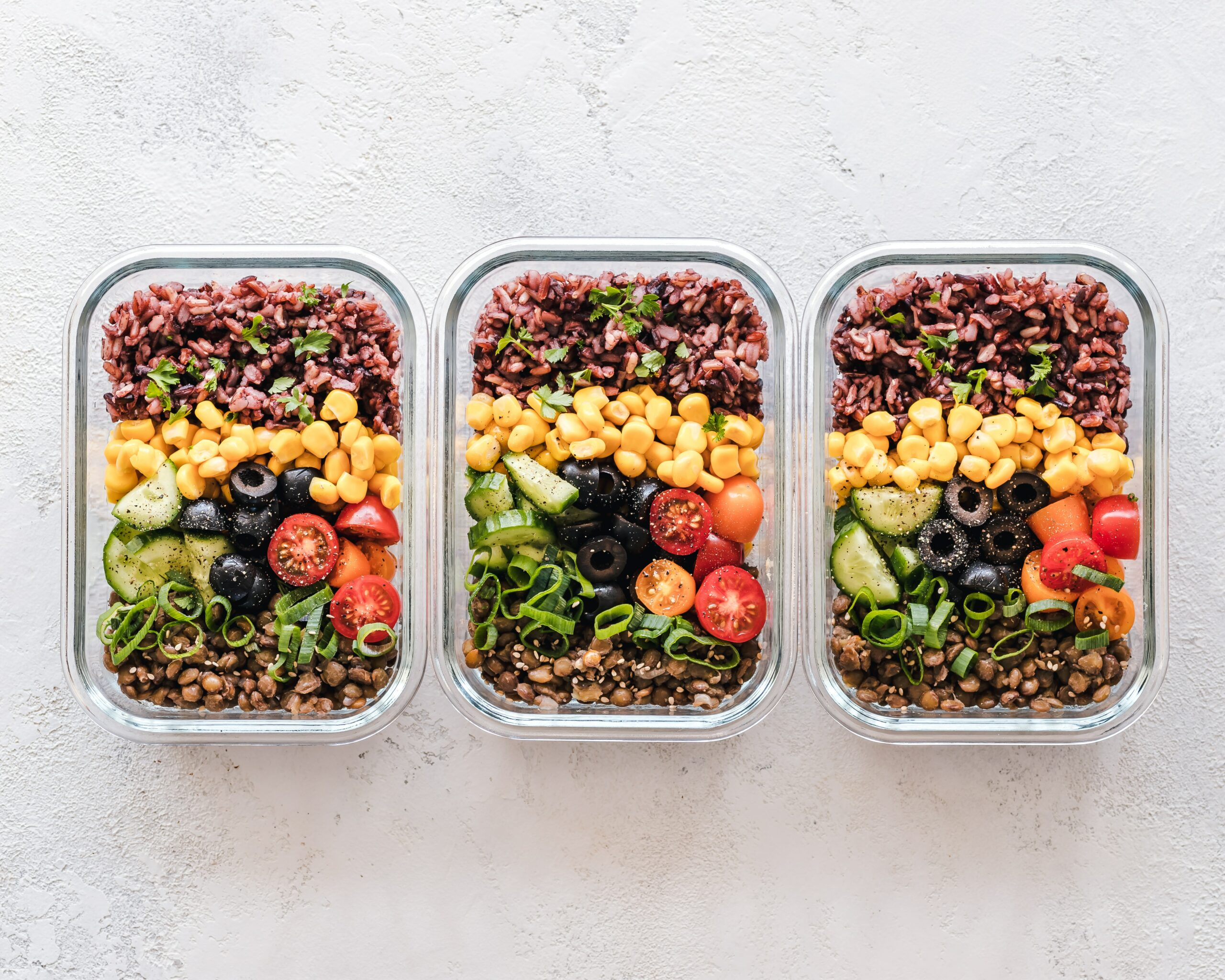 healthy packed lunch with vegetables